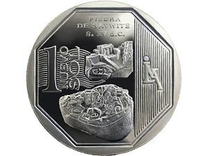 Банк Перу выпускает монету с изображением камня