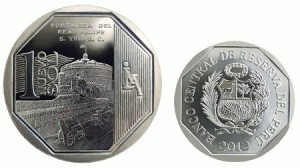 Крепость короля Филиппа на монетах Перу