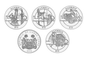 Олимпийские монеты Сьерра-Леоне 2012