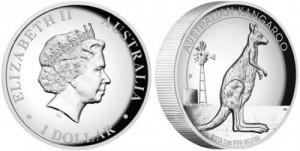 Австралийский кенгуру на монетах 2012 года