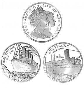 Столетний юбилей Титаника на монетах Острова Мэн
