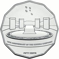 70 лет битвы за Кокоду на монетах Австралии