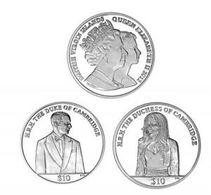 Монеты в честь первой годовщины свадьбы