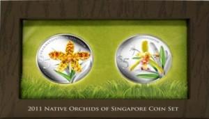 Валютное управление Сингапура (MAS) выпускает монеты с орхидеями