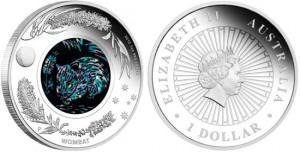 Австралийская Опаловая Серия монет с Вомбатом