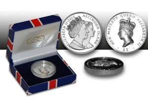 Острова Вознесения выпустили монеты к юбилею королевы