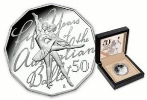 50-летний юбилей балета изображен на монетах Австралии